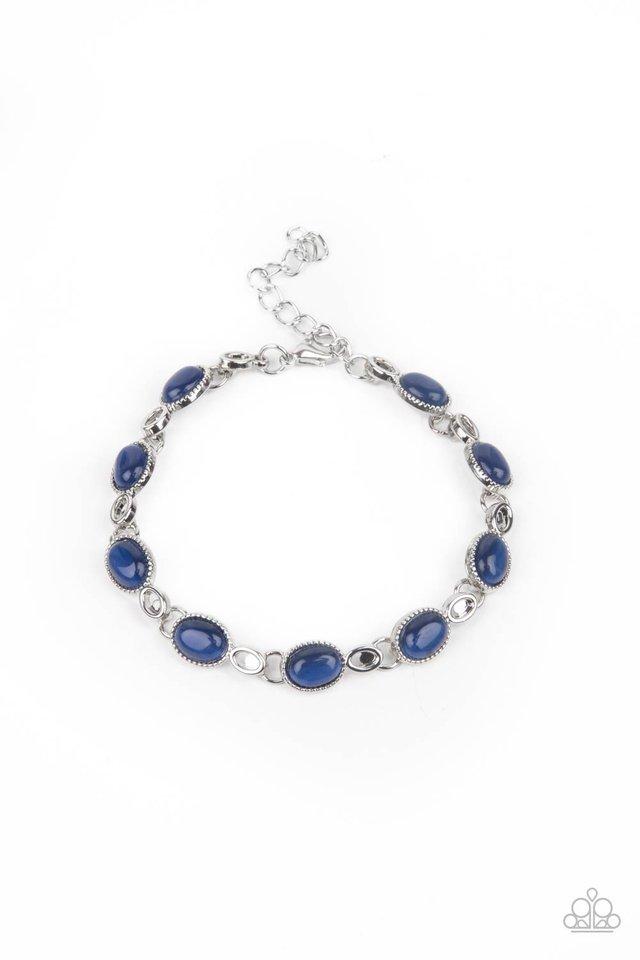 Blissfully Beaming - Blue - Paparazzi Bracelet Image