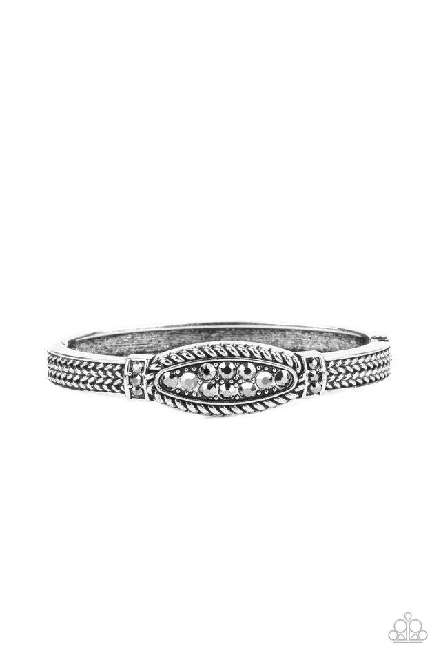 Locked in Luster -  Silver - Paparazzi Bracelet Image