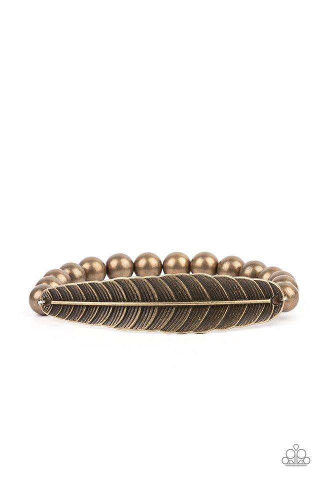 Featherlight Fashion - Brass - Paparazzi Bracelet Image