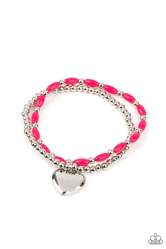Candy Gram - Pink - Paparazzi Bracelet Image