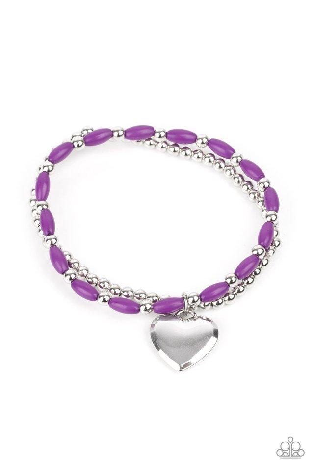 Candy Gram - Purple - Paparazzi Bracelet Image
