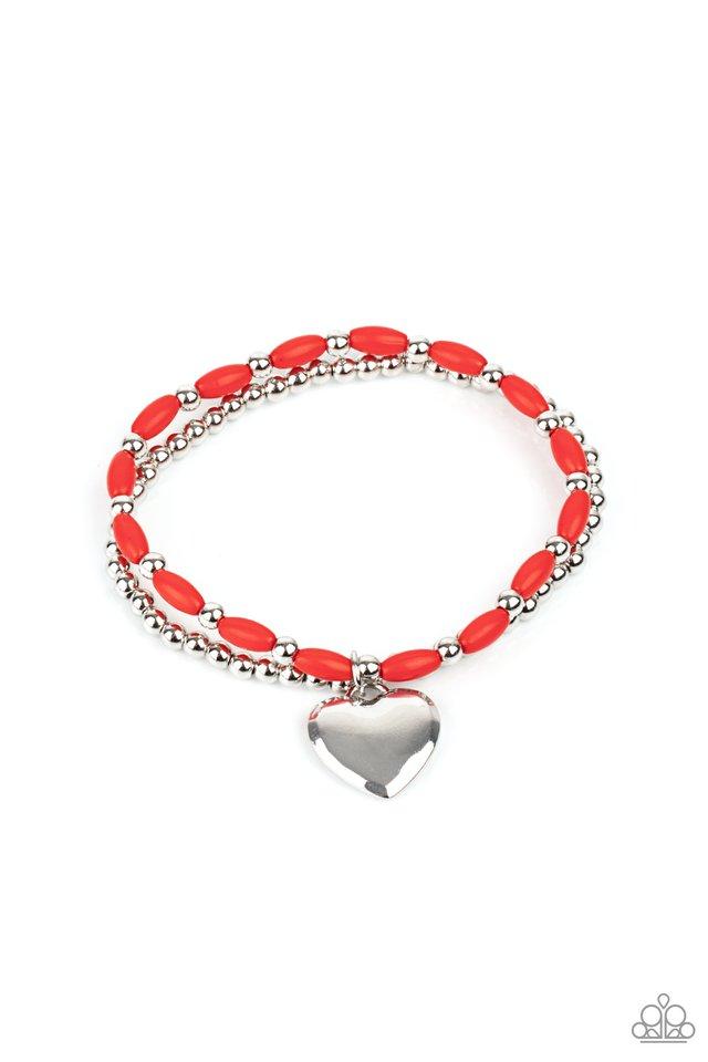 Candy Gram - Red - Paparazzi Bracelet Image