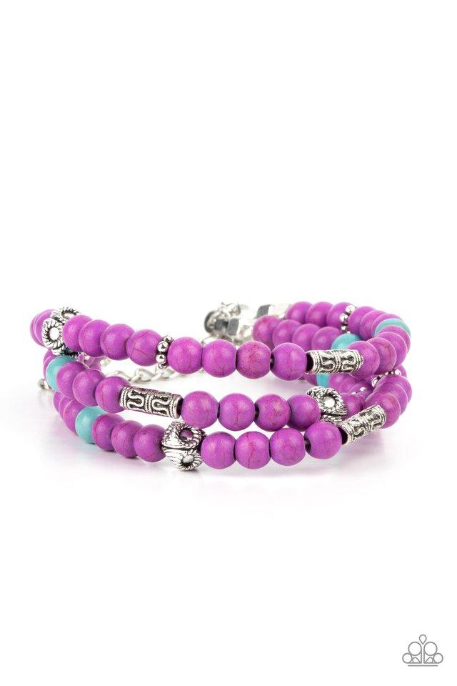 Desert Decorum - Purple - Paparazzi Bracelet Image