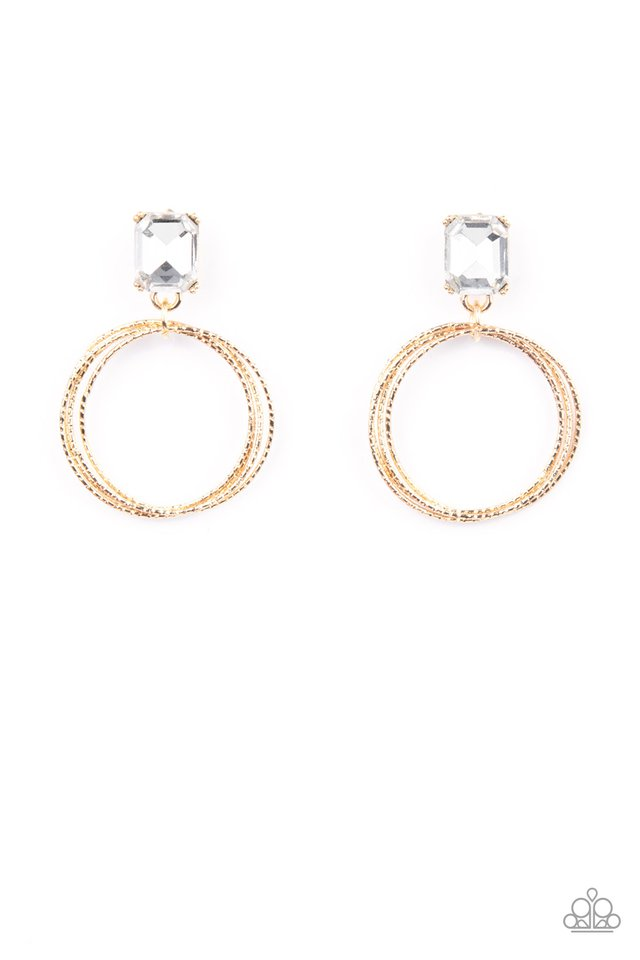 Prismatic Perfection - Gold - Paparazzi Earring Image