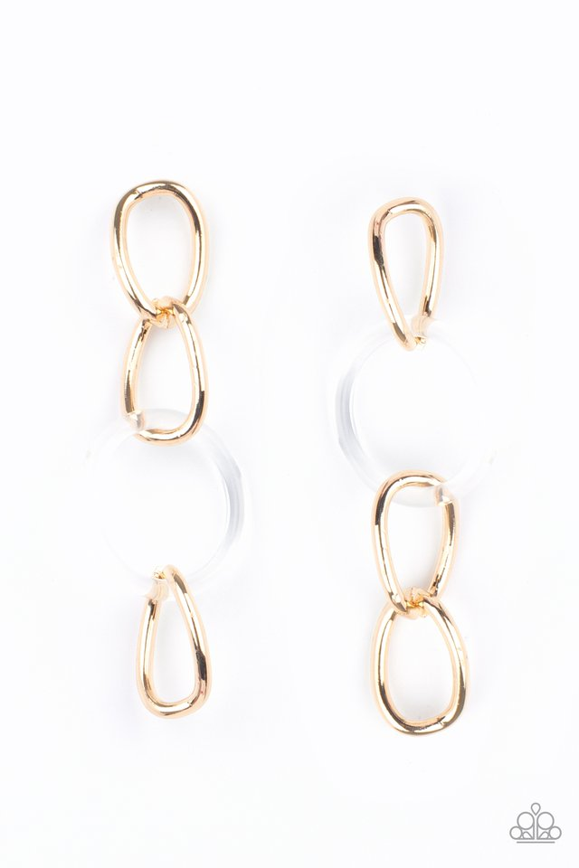 Talk In Circles - Gold - Paparazzi Earring Image