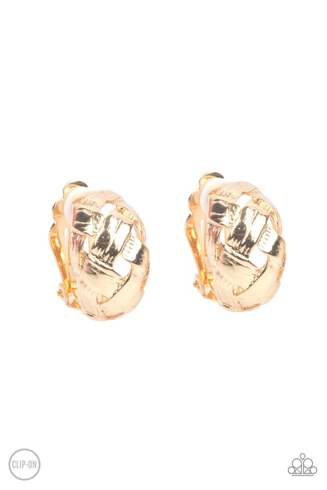 Wrought With Edge - Gold - Paparazzi Earring Image