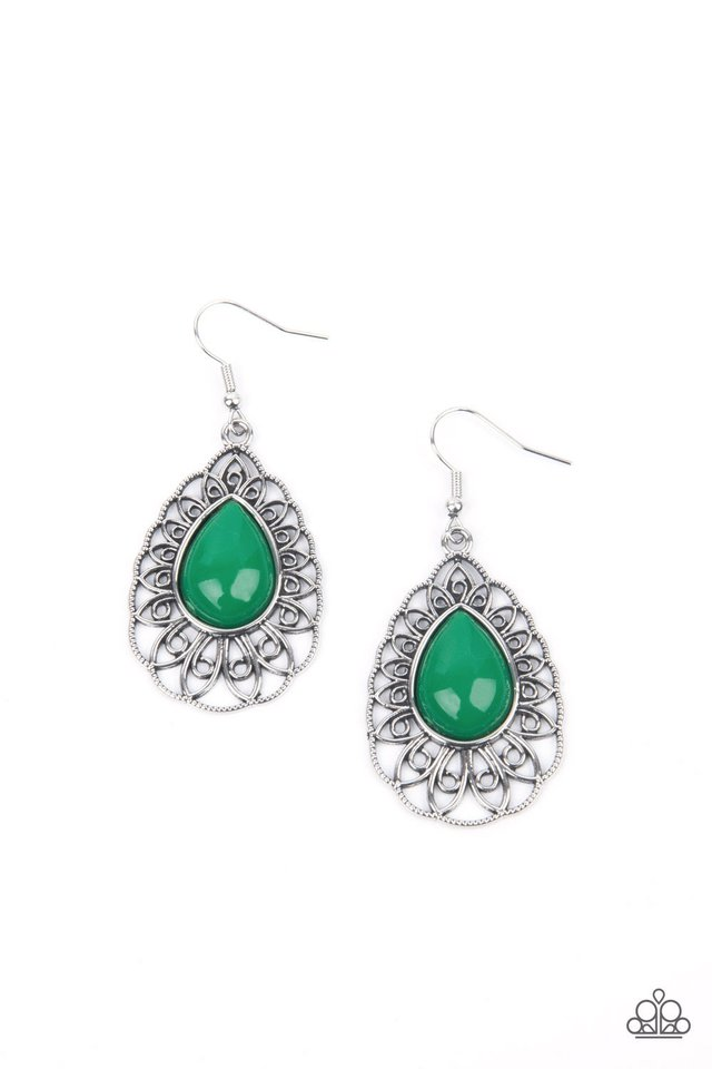 Dream STAYCATION - Green - Paparazzi Earring Image
