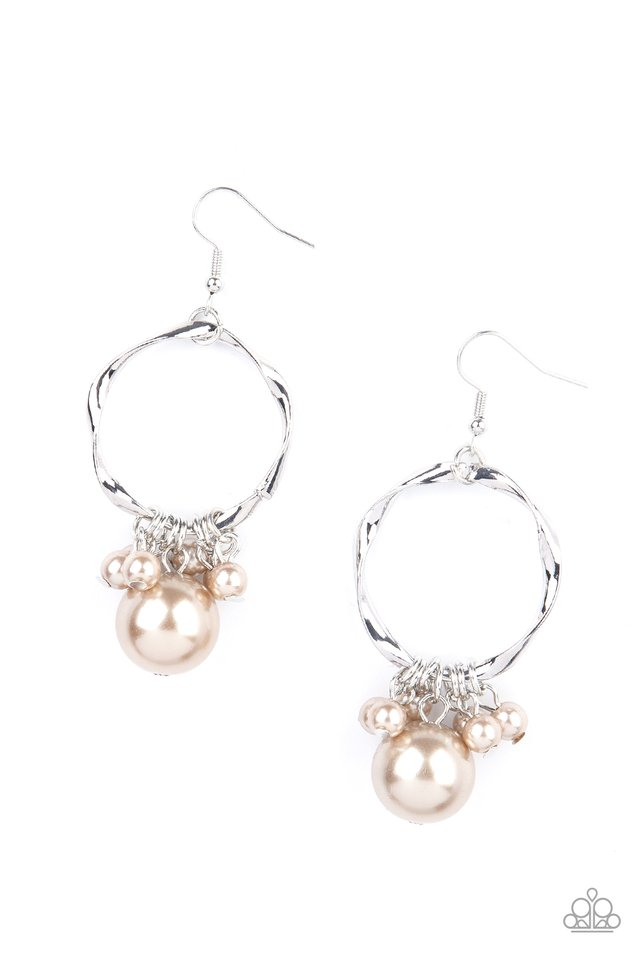 Delectably Diva - Brown - Paparazzi Earring Image