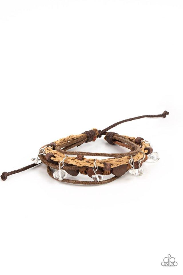 Run The Rapids - Brown - Paparazzi Bracelet Image