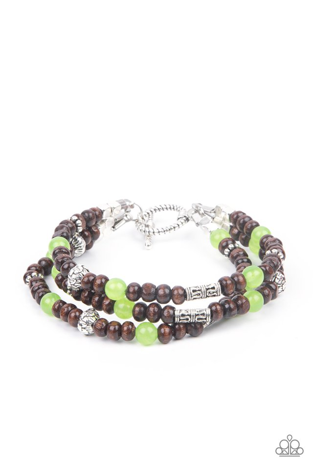 Woodsy Walkabout - Green - Paparazzi Bracelet Image