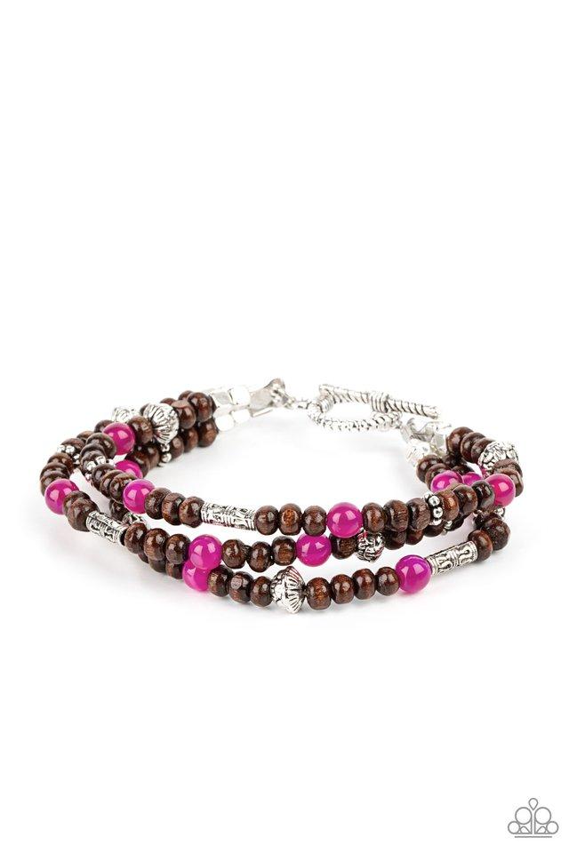 Woodsy Walkabout - Pink - Paparazzi Bracelet Image