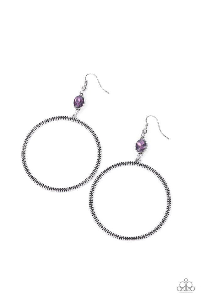 Work That Circuit - Purple - Paparazzi Earring Image