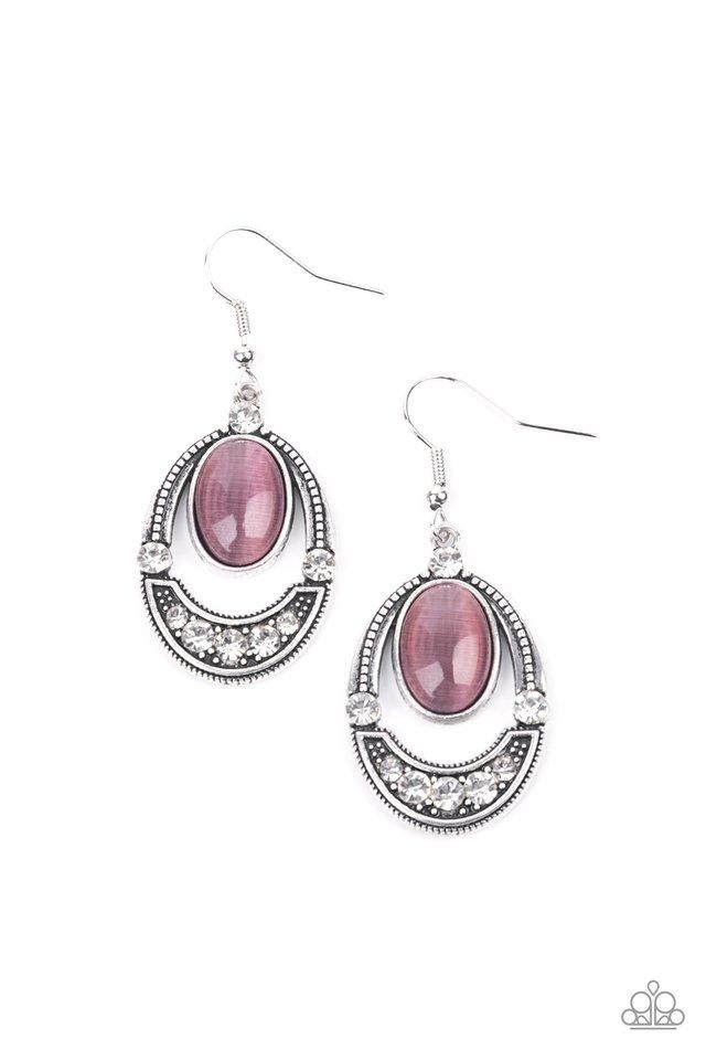 Serene Shimmer - Purple - Paparazzi Earring Image
