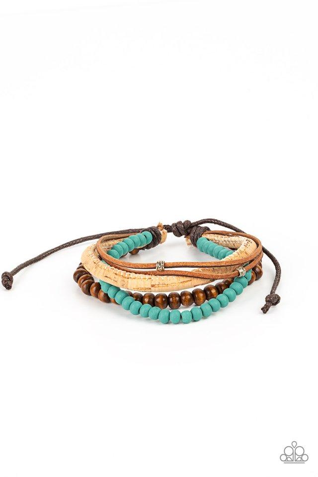 STACK To Basics - Blue - Paparazzi Bracelet Image