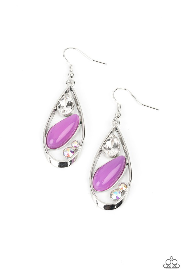 Harmonious Harbors - Purple - Paparazzi Earring Image