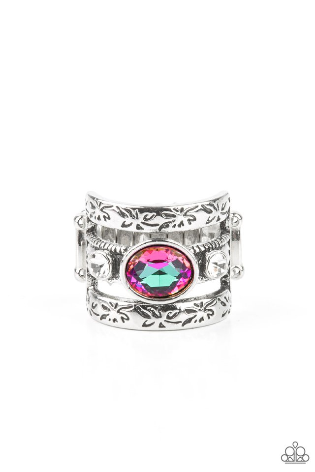 The GLEAMING Tower - Purple - Paparazzi Ring Image
