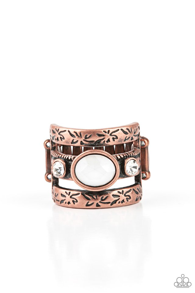 The GLEAMING Tower - Copper - Paparazzi Ring Image