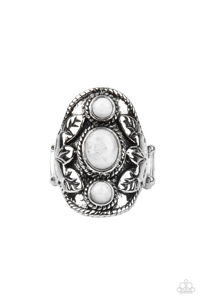 PALMS Up - White - Paparazzi Ring Image
