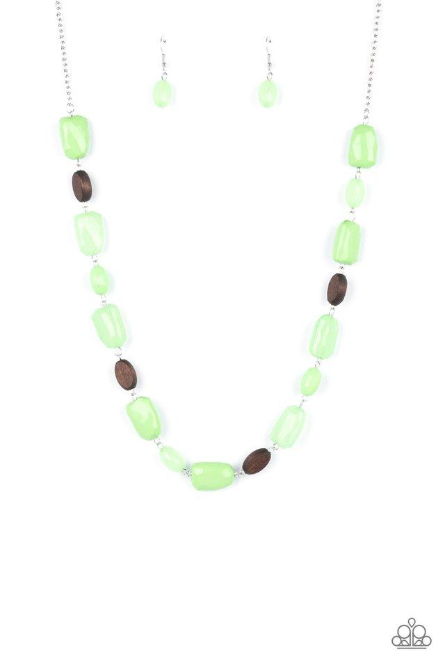 Meadow Escape - Green - Paparazzi Necklace Image