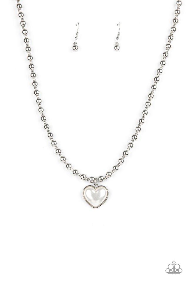 Heart Full of Fancy - White - Paparazzi Necklace Image