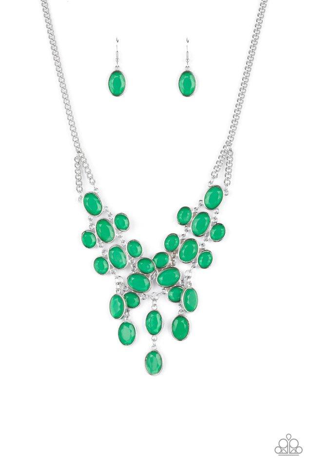 Serene Gleam - Green - Paparazzi Necklace Image
