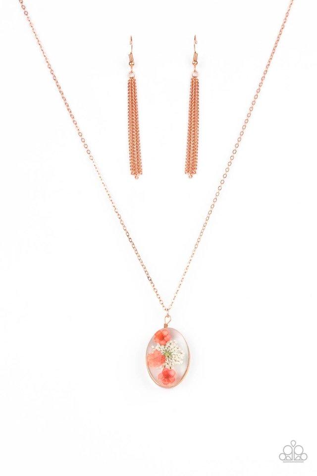 Sweet Sentiments - Copper - Paparazzi Necklace Image