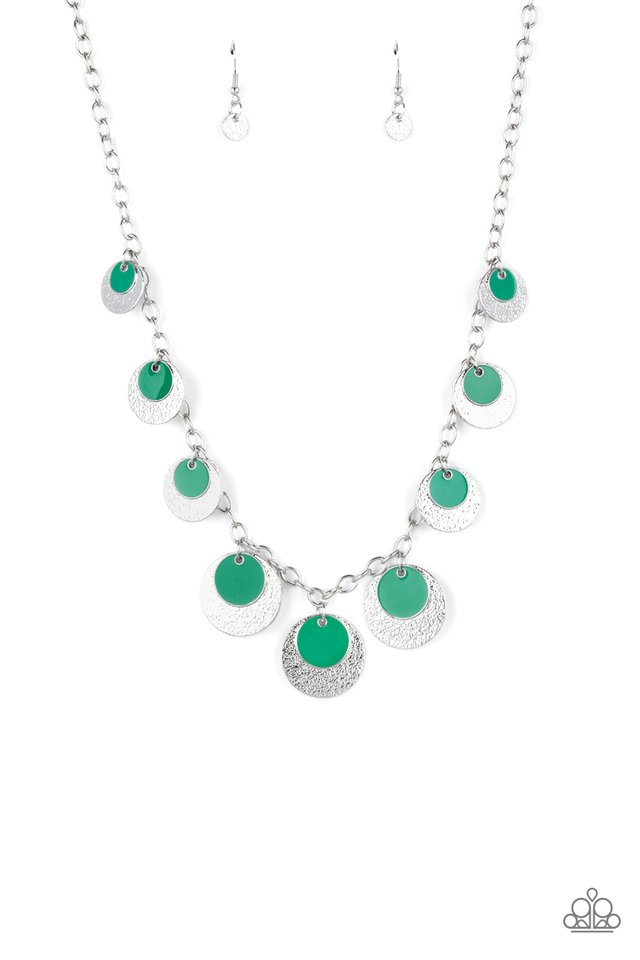 The Cosmos Are Calling - Green - Paparazzi Necklace Image
