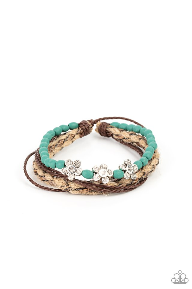 Raffia Remix - Blue - Paparazzi Bracelet Image