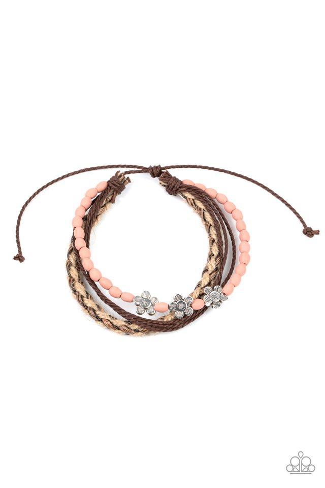 Raffia Remix - Pink - Paparazzi Bracelet Image