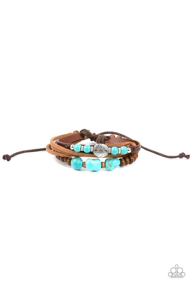 Act Natural - Blue - Paparazzi Bracelet Image
