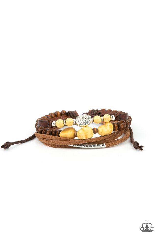 Act Natural - Yellow - Paparazzi Bracelet Image