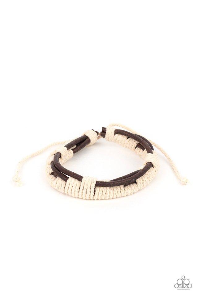 Nautical Distance - Brown - Paparazzi Bracelet Image