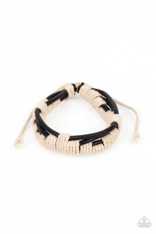 Nautical Distance - Black - Paparazzi Bracelet Image