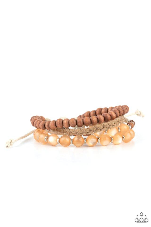 Down HOMESPUN - Orange - Paparazzi Bracelet Image