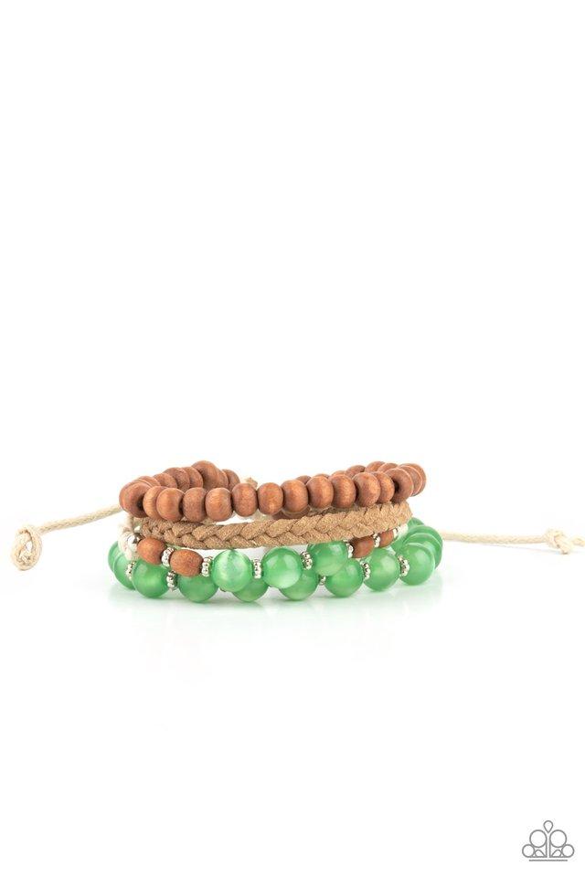 Down HOMESPUN - Green - Paparazzi Bracelet Image