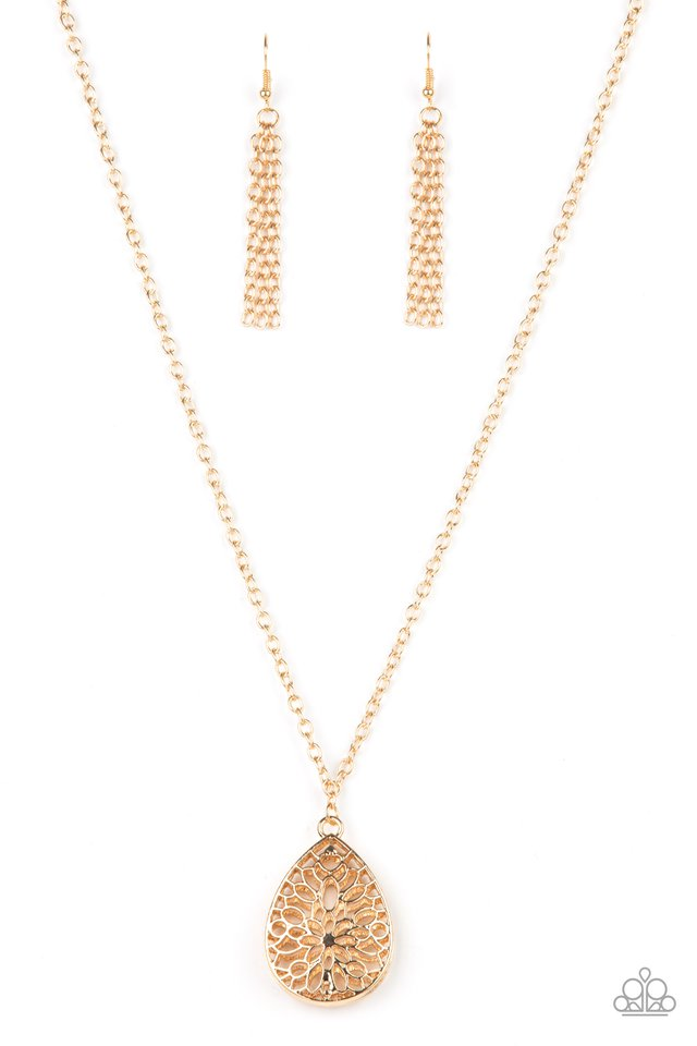 Garden Estate - Gold - Paparazzi Necklace Image