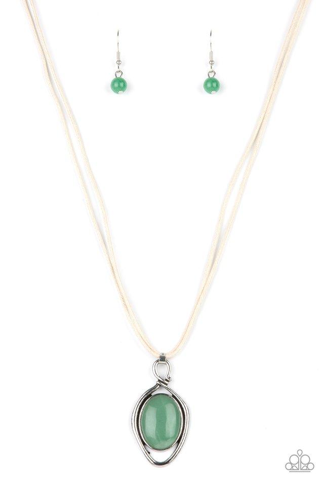 Desert Mystery - Green - Paparazzi Necklace Image