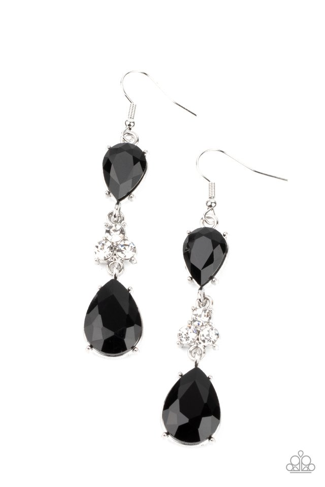 Once Upon a Twinkle - Black - Paparazzi Earring Image