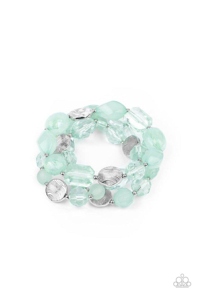 Oceanside Bliss - Green - Paparazzi Bracelet Image
