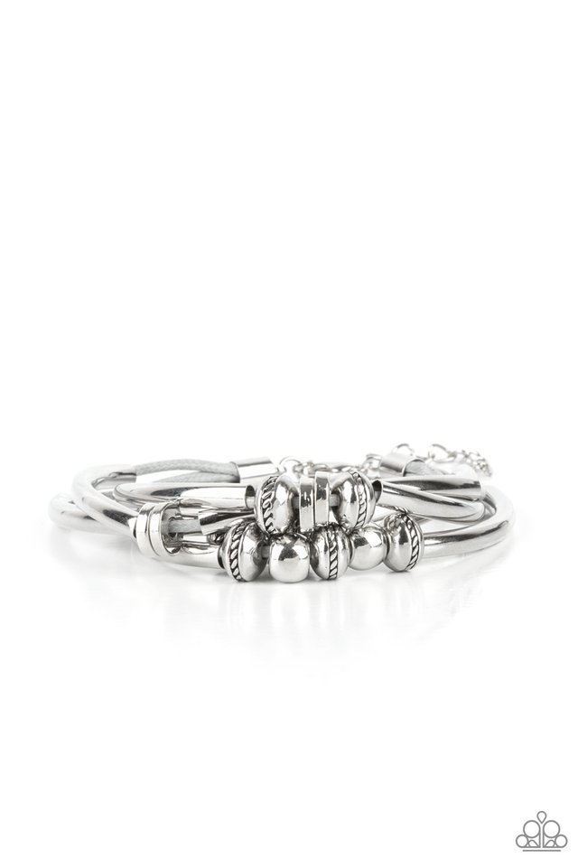 We Aim To Please - Silver - Paparazzi Bracelet Image