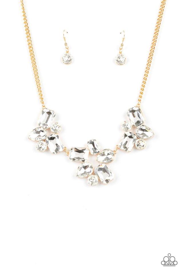 Galactic Goddess - Gold - Paparazzi Necklace Image