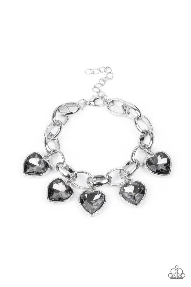Candy Heart Charmer - Silver - Paparazzi Bracelet Image