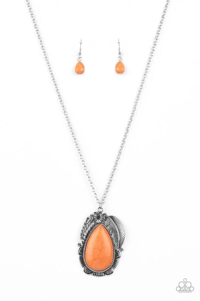 Tropical Mirage - Orange - Paparazzi Necklace Image