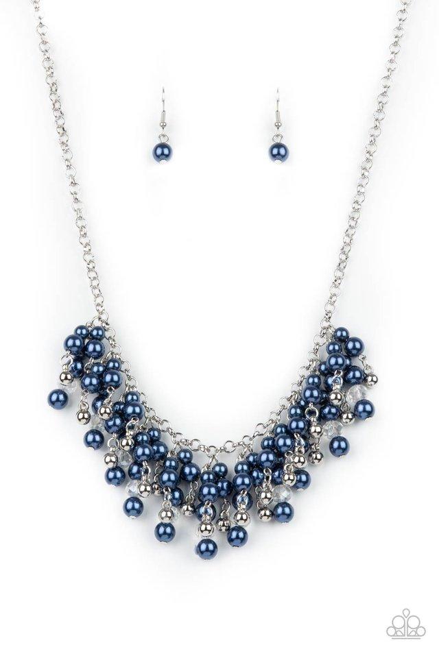 Champagne Dreams - Blue - Paparazzi Necklace Image