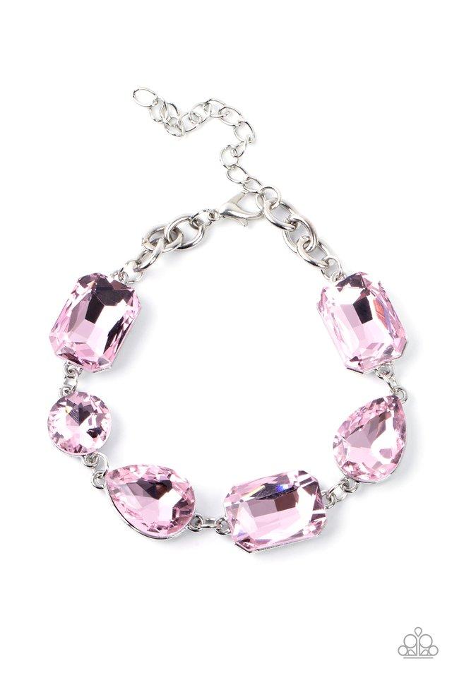Cosmic Treasure Chest - Pink - Paparazzi Bracelet Image