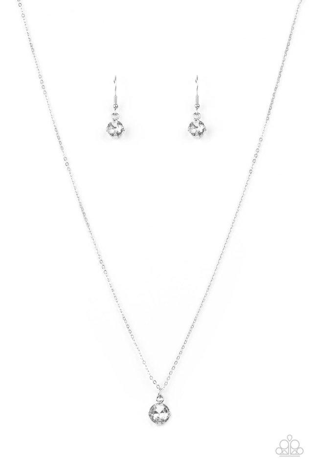 Undeniably Demure - White - Paparazzi Necklace Image