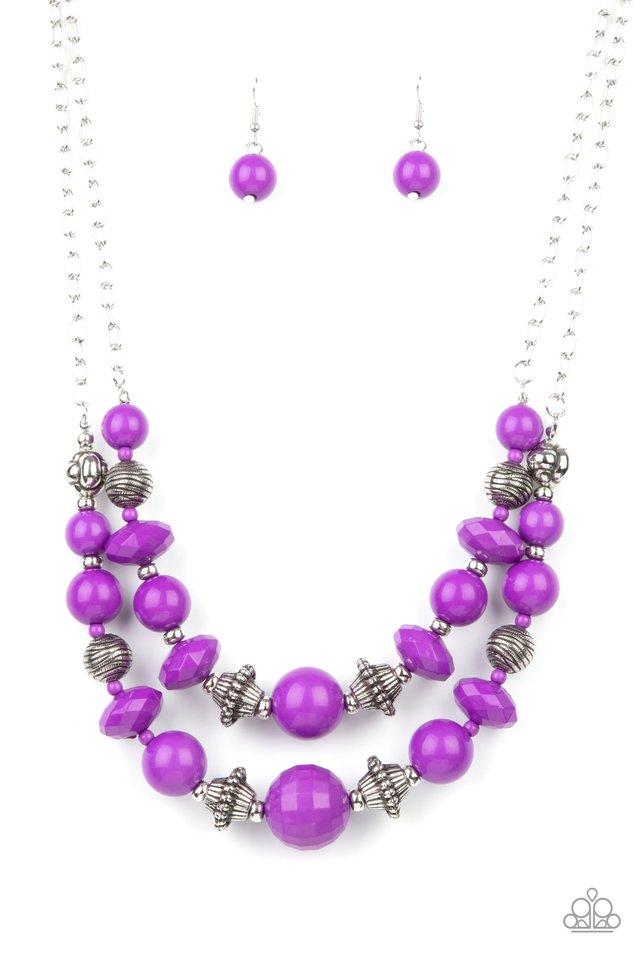 Upscale Chic - Purple - Paparazzi Necklace Image