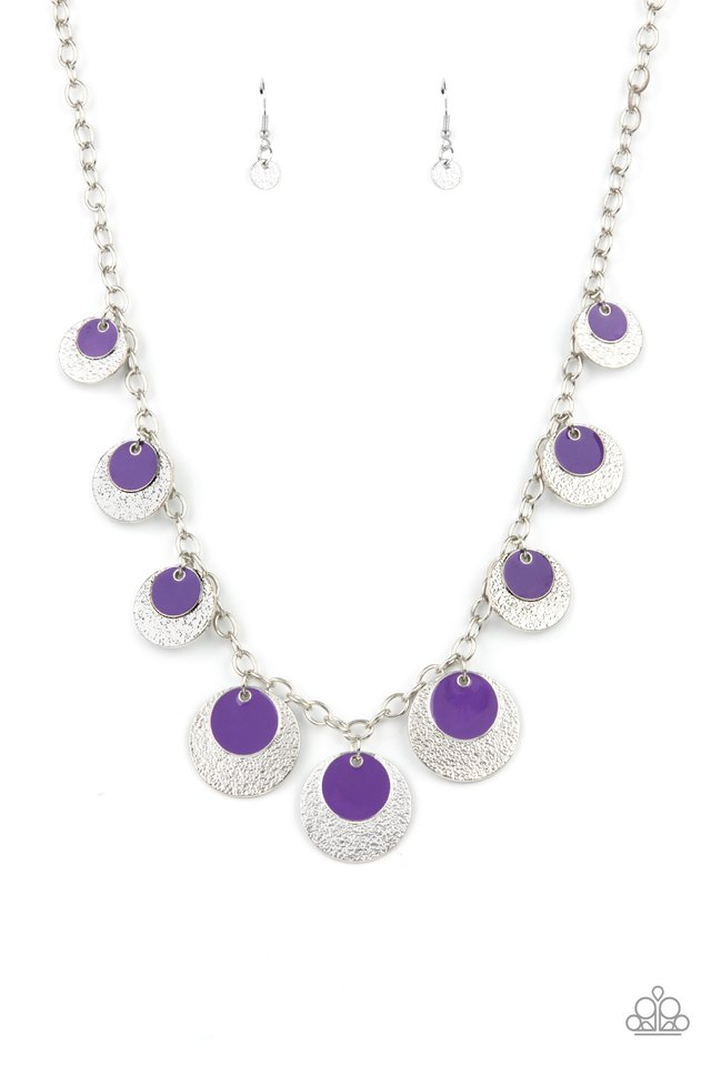 The Cosmos Are Calling - Purple - Paparazzi Necklace Image