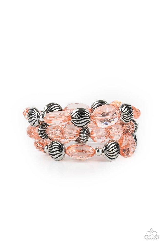 Crystal Charisma - Orange - Paparazzi Bracelet Image