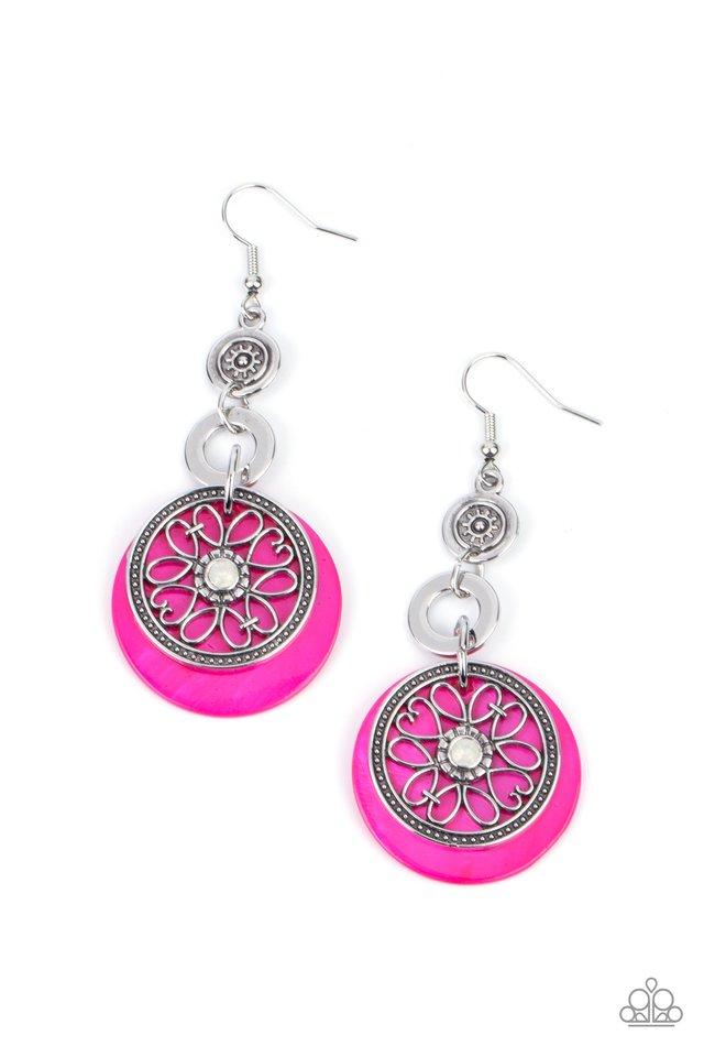 Royal Marina - Pink - Paparazzi Earring Image